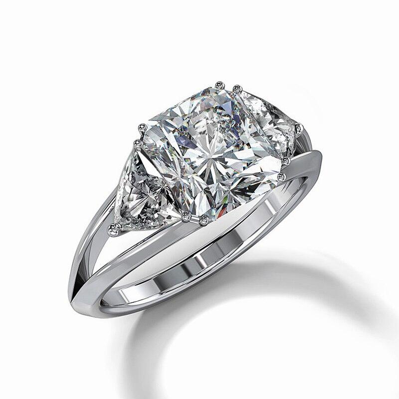 Huitan brilhante azul & branco zircão cúbico pedra prong ajuste clássico anel de casamento banda estilo geométrico feminino anel de jóias