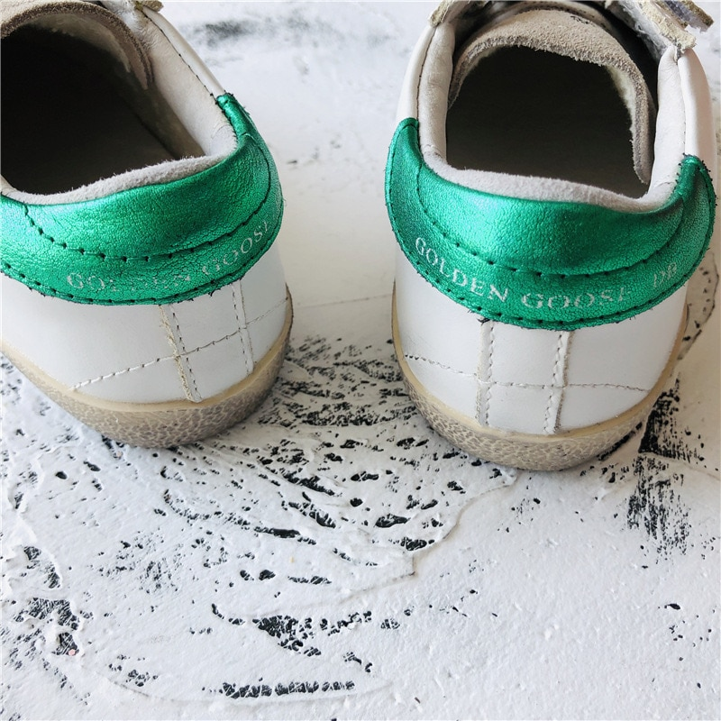 2021 Spring and Summer First Layer Cowhide Children's Old Small Dirty Shoes Boys and Girls Casual Velcro  Kids Sneakers CS184 enlarge