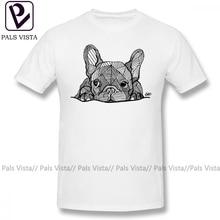 French Bulldog T Shirt French Bulldog Puppy T-Shirt Male Fun Tee Shirt 100 Percent Cotton Beach Short Sleeves Print 4xl Tshirt