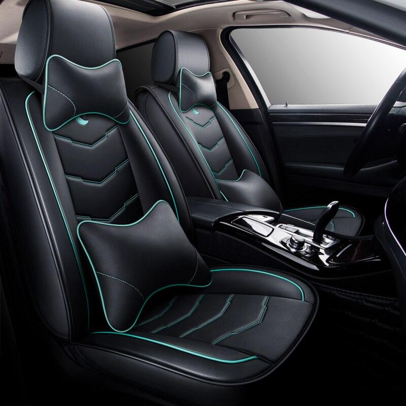 HeXinYan واحد pcs جلدية العالمي سيارة مقعد غطاء لمازدا جميع نماذج مازدا 3 5 6 CX-9 CX-5 CX-7 اكسسوارات سيارات سيارة