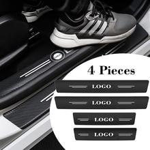 4 Pcs Car Door Decor Threshold Stickers Protect For Mercedes Benz BMW Toyota Lexus Nissan Chevrolet