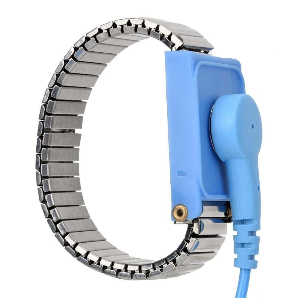 Portátil antiestático muñeca Correa Anti-estática inteligente pulsera ESD ajustable tierra descarga electrostática