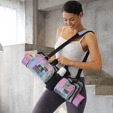 Вместительная сумка-коврик для йоги, женские портативные сумки через плечо, спортивные сумки, спортивный мессенджер для спортзала, фитнеса, водонепроницаемая сумка-коврик для пилатеса и йоги