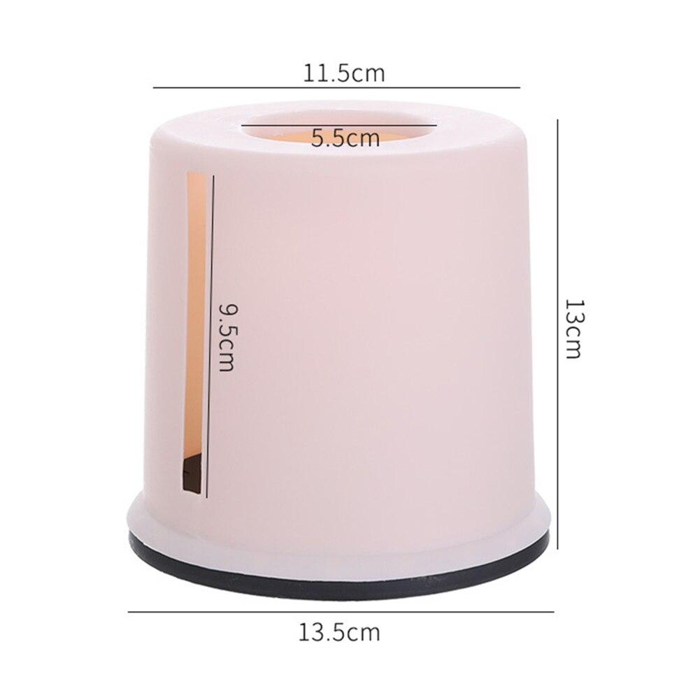 European Round Plastic Roll Paper Towel Tissue Box Creative Multifunctional Tissue Storage Case Car Desktop Napkins Holder