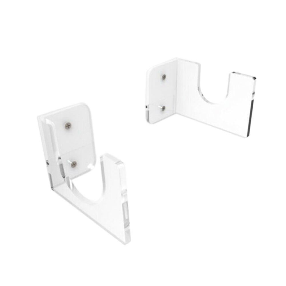 2 unids/set de soporte de bate de béisbol soporte de almacenamiento de tienda de exhibición Horizontal de acrílico montado en la pared utensilio práctico para el hogar instalar estante transparente
