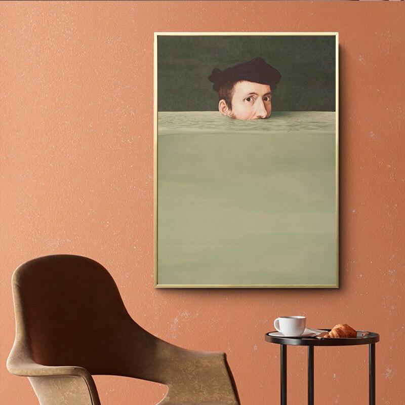 Dibujo a mano de personaje nórdico abstracto, póster de lienzo colorido, Impresión de pintura Vintage, decoración de pared imágenes artísticas para sala de estar y dormitorio