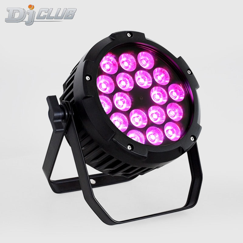 Led Stage Wall Wash Light Outdoor Flat Led Par Can 18*18W Rgbaw+Uv 6In1 Color Ip65