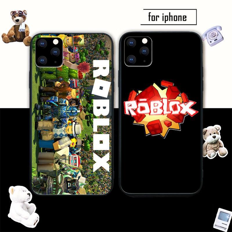 Juego Robloxes de silicona caso Coque para Iphone Se 2020 6s 6 7 8 Plus X Xs X Max Xr 11 12 Pro Max cubierta