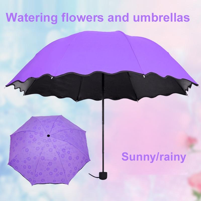 Paraguas Anti-UV paraguas sombrilla Magic Flower Dome protector solar portátil 3-plegado a prueba de polvo