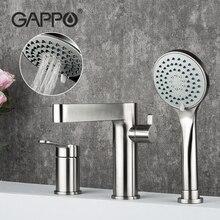 Gappo conjunto torneira do chuveiro do banheiro de aço inoxidável banheira chuveiro mixer bath chuveiro cabeça torneiras misturadoras robinet baignoire