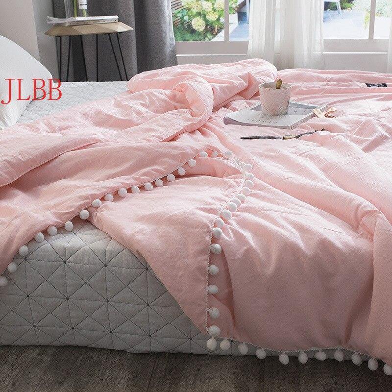 الصيف رمي لحاف الطازجة الوردي لحاف خليط باتشورك خياطة كرات صغيرة حاف 1 قطعة المفرش لينة الصلبة غطاء السرير أغطية سرير الرعوية