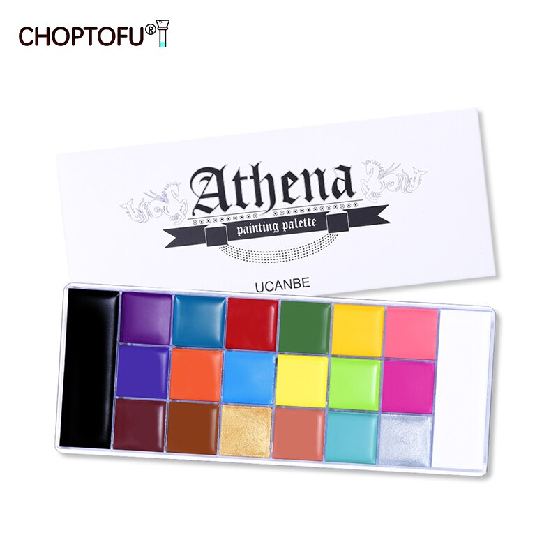 20 Colors Face Body Painting Palette Halloween Party Makeup Tattoo Painting Art Non-Toxic Oil Kids Fancy Dress Beauty Palette