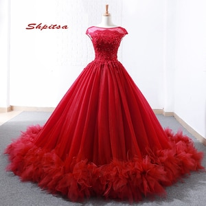Red Tulle Quinceanera Dresses 2020 Plus Size Puffy Prom Masquerade Ball Gown Sweet Sixteen 16 Dresses vestido de 15 anos