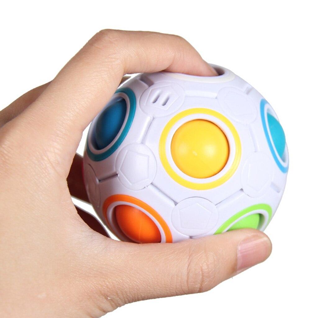 Stress reliever arco-íris bola mágica divertido cubo inquietação puzzle educação brinquedo