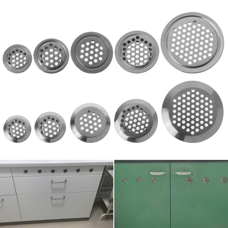 10 шт., круглые вентиляционные решетки для шкафа, диаметр 19-53 мм