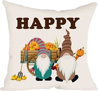 ditmeer happy harvest throw pillow cover couch pillowcase outdoor indoor home d%c3%a9cor cushion pillowcover