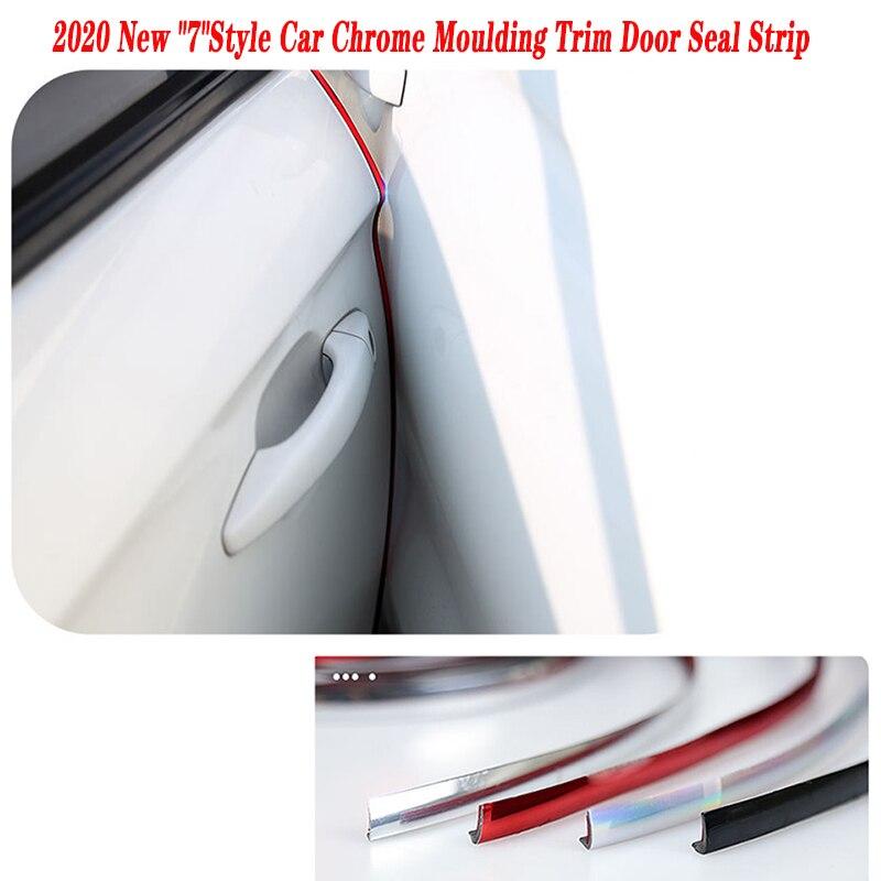 10m Auto Chrome Moulding Trim Tür Dichtung Streifen Aufkleber Für Toyota Corolla Avensis RAV4 Yaris Auris Hilux Prius verso MG 3 ZR Buick