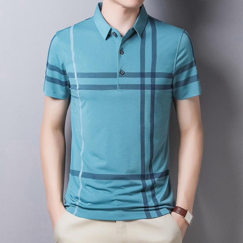 Ymwmhu Men Summer Striped Polo Shirt Short Sleeve Slim Fit Polos Fashion Streetwear Tops Men Shirts Office Casual Shirts Polo Aliexpress