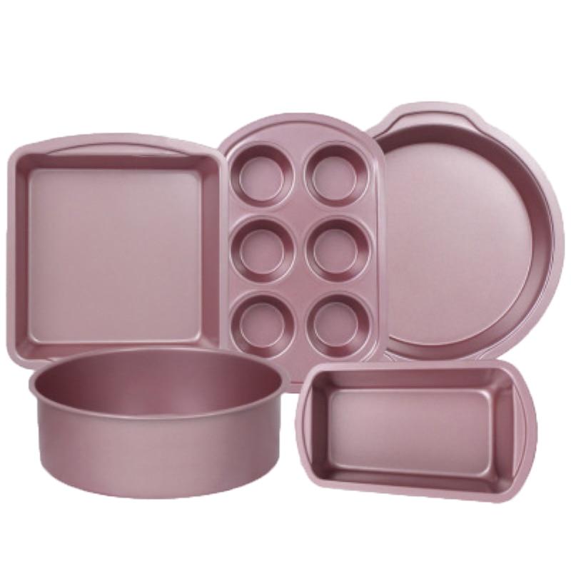 1 ud. Bandeja redonda para hornear, Pan, Cupcake, Pan, molde de acero al carbono, lata para Pan tostado, Pizza, Muffin, bandeja para horno