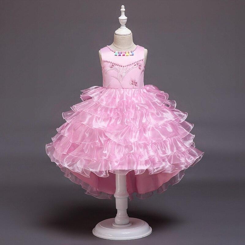 Vestido de niñas falda de vestir de niña de mediana edad de moda de los niños de la torta extranjera falda de princesa falda de la Danza del niño
