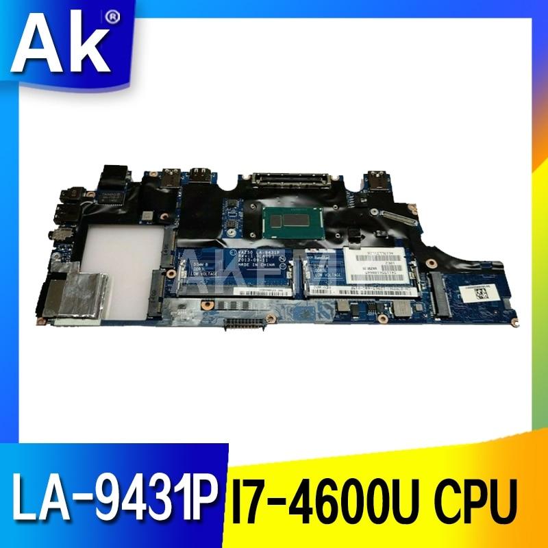 Akemy CN-0X9Y17 0X9Y17 VAZ50 LA-9431P اللوحة الرئيسية لديل خط العرض E7240 اللوحة الأم للكمبيوتر المحمول I7-4600U وحدة المعالجة المركزية