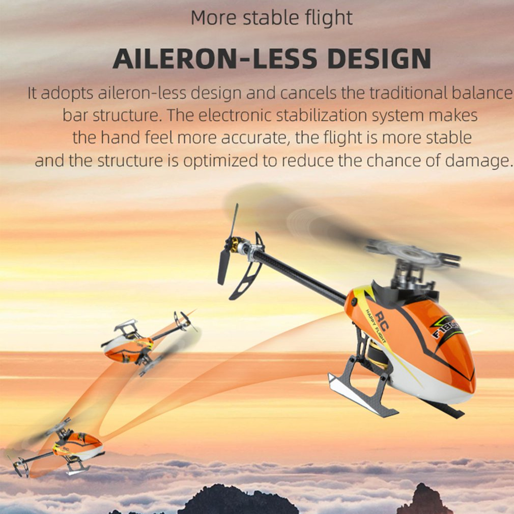 F180 6CH 3D 6G System Dual Brushless Direct Drive Motor Flybarless w/ S-FHSS RC Helicopter Aircraft BNF/RTF Model VS E180