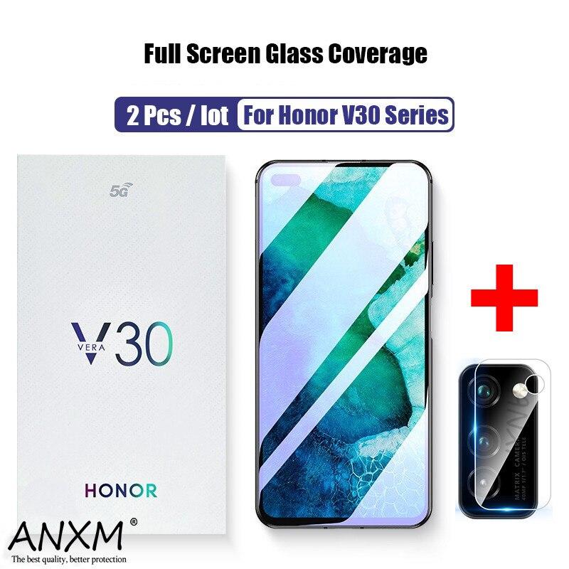 Verre trempé dintimité pour Huawei Honor V30 30 Pro Lite couverture écran de protection Anti blue-ray pour Honor V30 vue 30 Pro verre