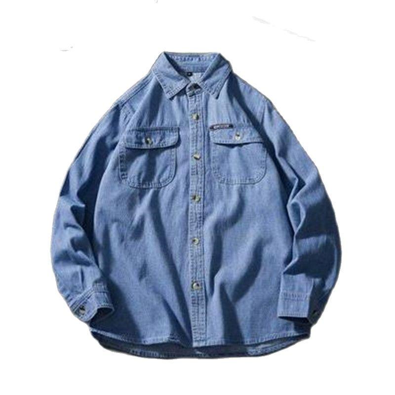 Camisas vaqueras de talla grande para hombre, Camisa holgada de gran tamaño,...