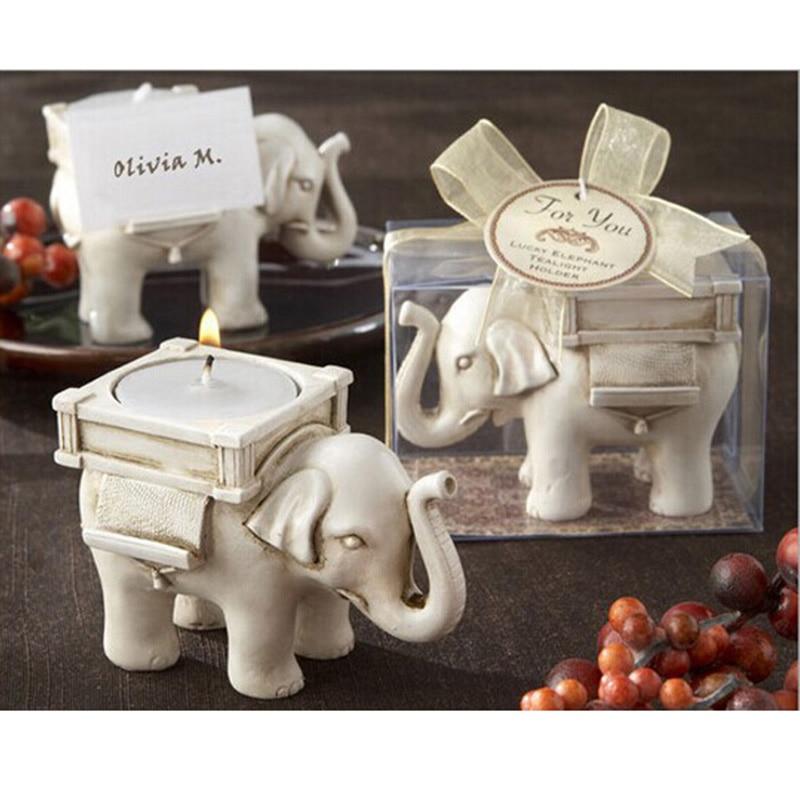 1 pçs sorte elefante chá luz castiçal tealight castiçal castiçal marfim nupcial festa de casamento decoração para casa suprimentos