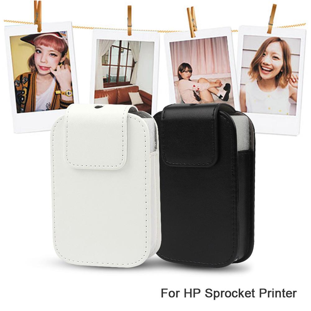 Moda PU cuero diario vida impermeable viaje almacenamiento funda bolsa para impresora de fotos HP piñón