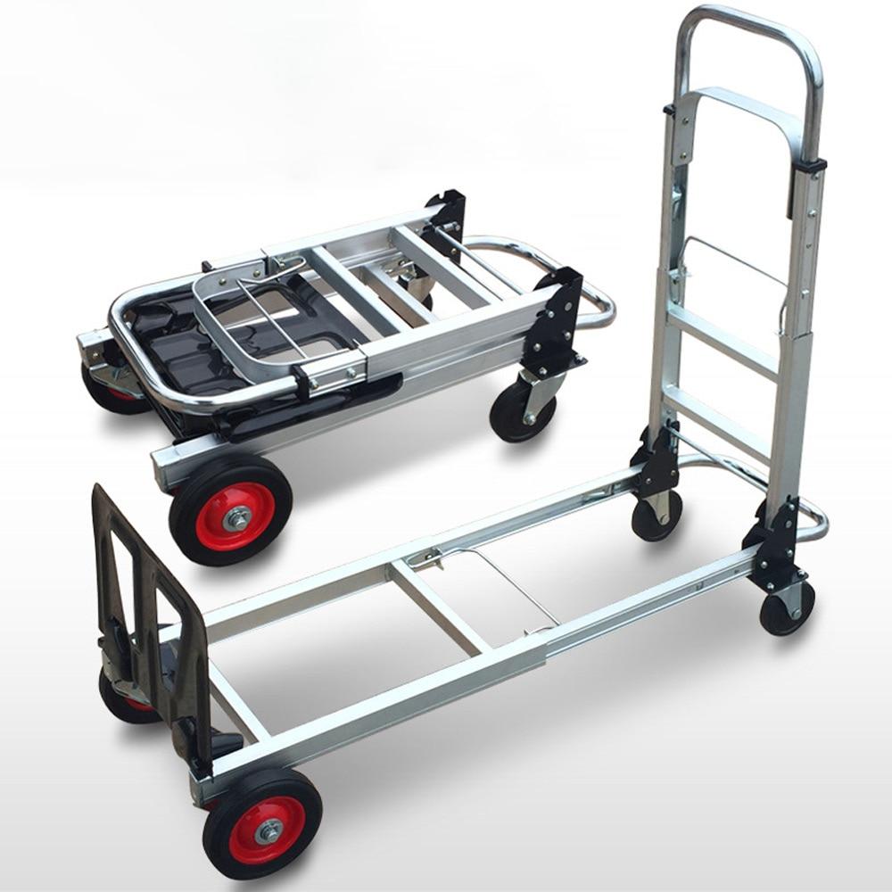 Ручная тележка из алюминиевого сплава, портативная Тележка для покупок, складная тележка для перевозки багажа