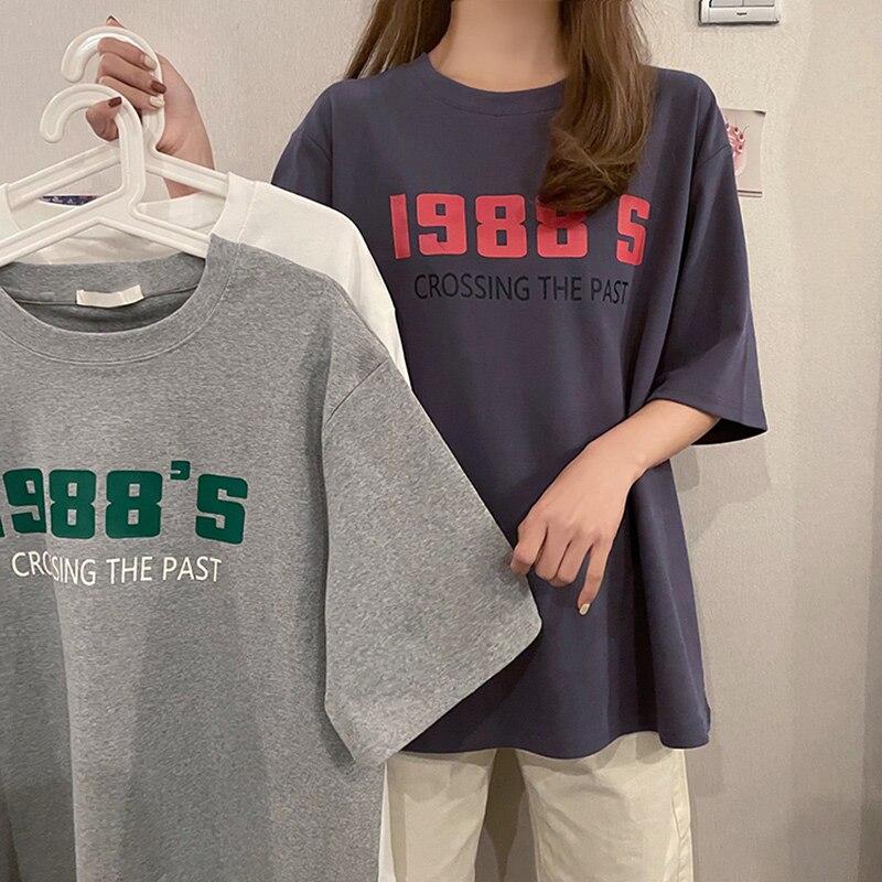 Camiseta interior para mujer, ropa de verano con cuello redondo, estampado de...