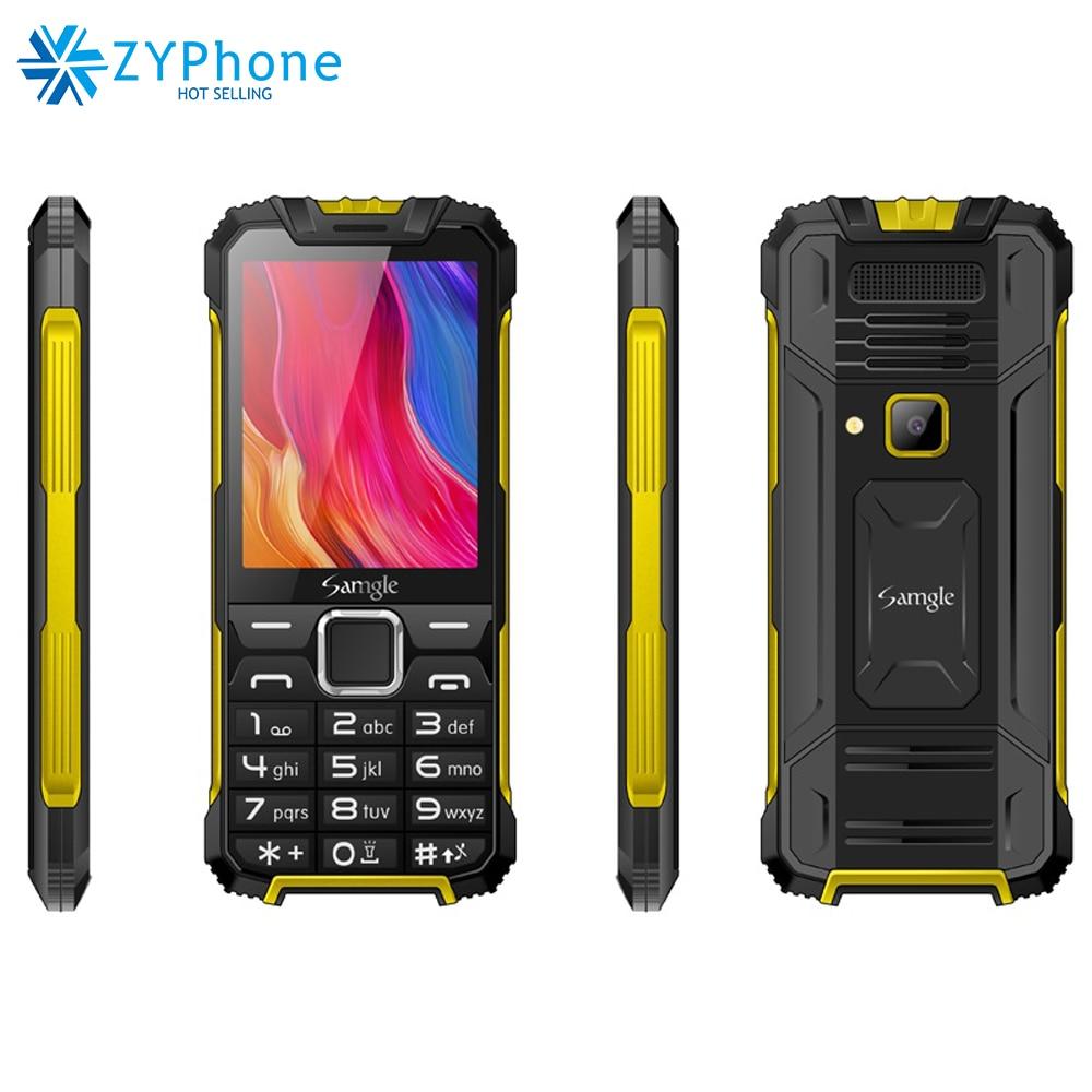 "3G WCDMA 2.8"" Display Slim Rugged Feature Phone Speed Dial Super Long Standby Flashlight Whatsapp Senior Mobile Phone Samgle"