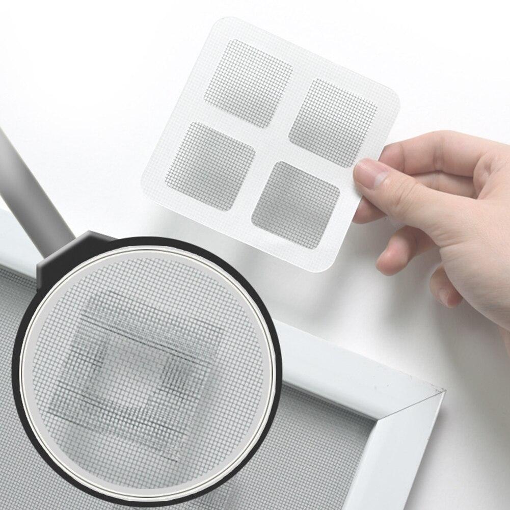 Ventana Red Anti-mosquito malla Sticky Wires parche reparación herramienta ventana pantalla Anti Mosquito parches reparación agujero roto Sticky Tape