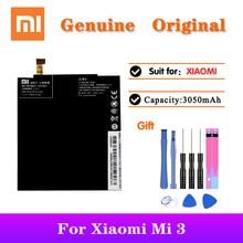 5pcs/lot XiaoM Battery For Xiaomi Mi 3 M3 Mi3 3050mAh Capacity BM31 Original Replacement Phone Li-ion Batteria AKKU