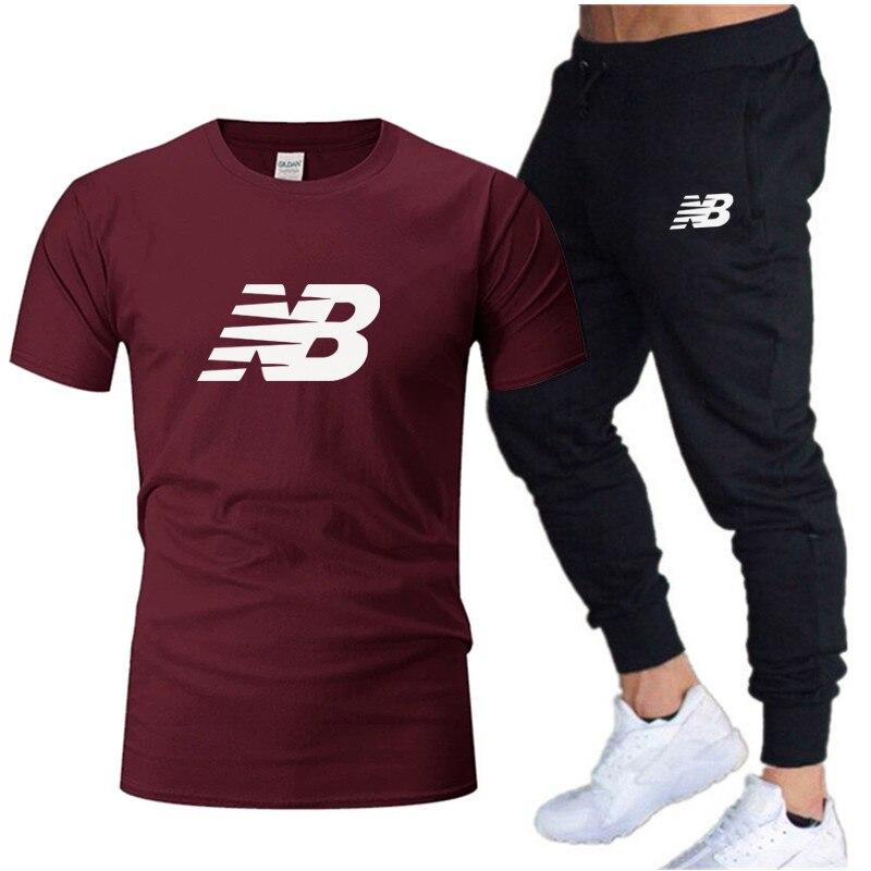 2021 vente Sweat homme + Панталоны 2 штуки комплект спортивной одежды сплошной тканевый мяч Printemps