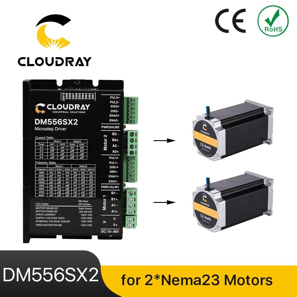 Cloudray نيما 23/24 محرك متدرج سائق DM556SX2 5.6A 24 ~ 48VDC ل 2 قطعة وحدة تحكم في محرك متدرج CNC آلة الحفر