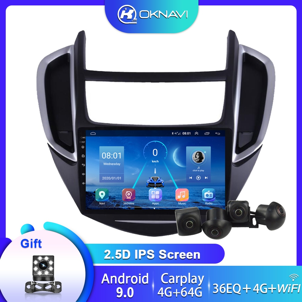 Car Radio For Chevrolet TRAX 2014-2016 GPS Navigation Android 9.0 Multimedia Player 360 Bird View System 4 Camera 4G Carplay