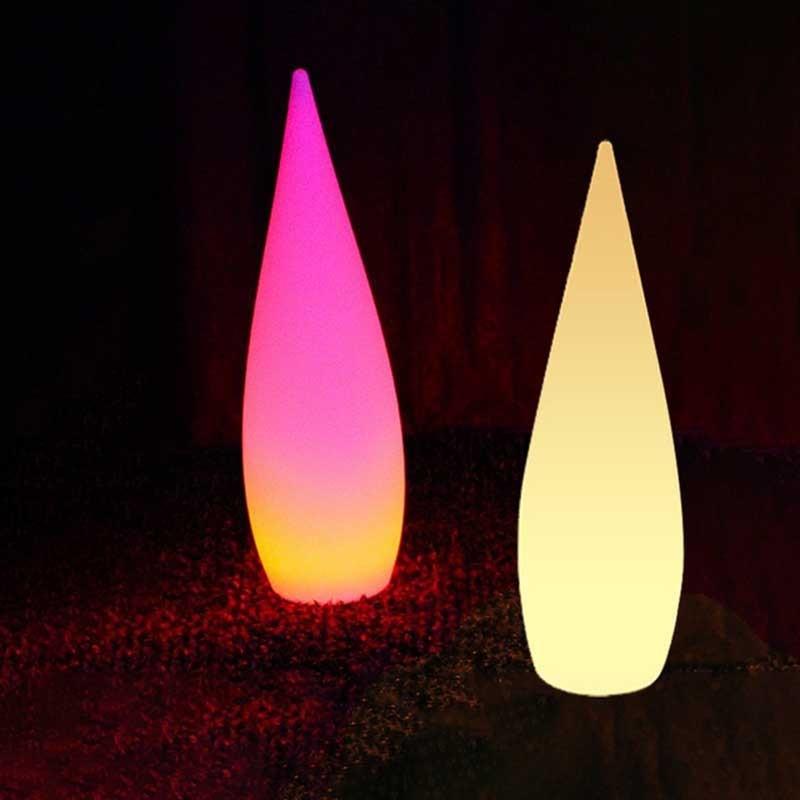 LED Remote Control Outdoor Floor Lamp Hotel Garden Decor Lights Portable Water Drop Landscape Lighting Waterproof Modeling Light enlarge