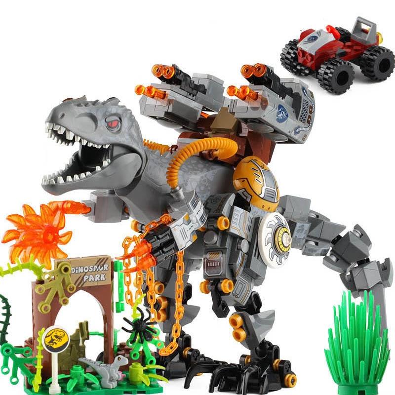 2 sets jurassic world tyrannosaurus building blocks jurrassic dinosaur figures bricks qunlong zoo toy for kids Jurassic Tyrannosaurus Dinosaur World Creative Building Blocks Bricks Children Gift Baby Education Toy