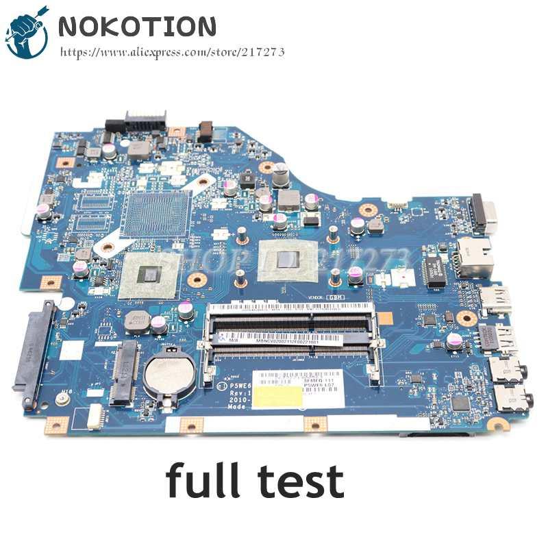 NOKOTION لشركة أيسر 5253 5250 اللوحة المحمول MBNCV02002 PEWE6 LA-7092P الرئيسي مجلس DDR3 مع المعالج على متن