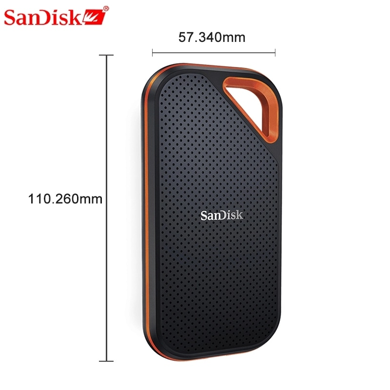 SanDisk Mobile hard drive 2T 1TB 500g Extreme PRO Portable External SSD Up to 1050MB/s USB-C USB 3.1 for Laptop camera or server