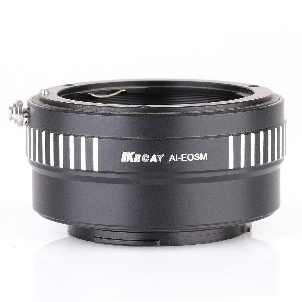 Переходное кольцо KECAY AI-EOSM для Nikon F AI AIS Крепление объектива для камеры Canon EOSM EF-M M M2 M3