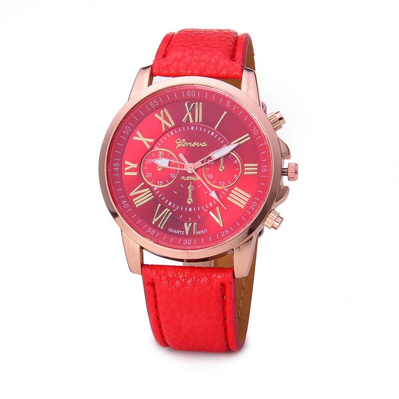 2021 высококачественные брендовые кварцевые часы с кожаным ремешком, модные женские и мужские часы, женские красные часы, парные часы