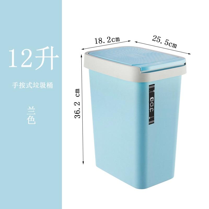 Gray Plastic Trash Can Modern Nordic Rectangle Creative Trash Can Standing Deodorant Bote De Basura Kitchen Accessories EI50LJ enlarge