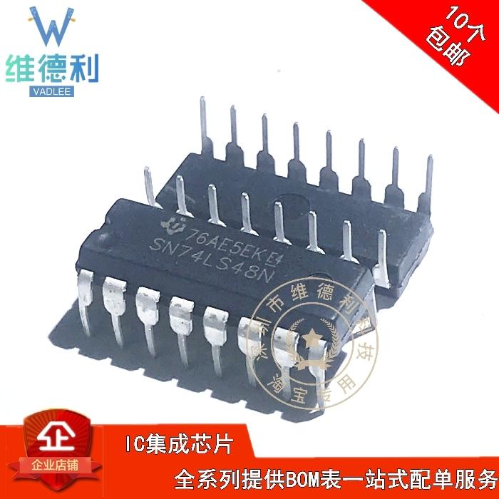10 Uds SN74LS48N 74LS48 DIP-16 / Original nuevo 1 orden