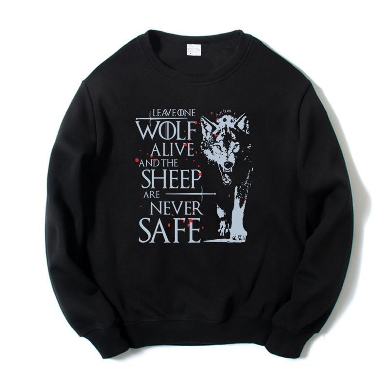 High-Q Unisex Game of Thrones Game of Thrones Jon Snow Hoodie Sweatshirts House Stark Direwolf Jacket Coat Pullovers Top