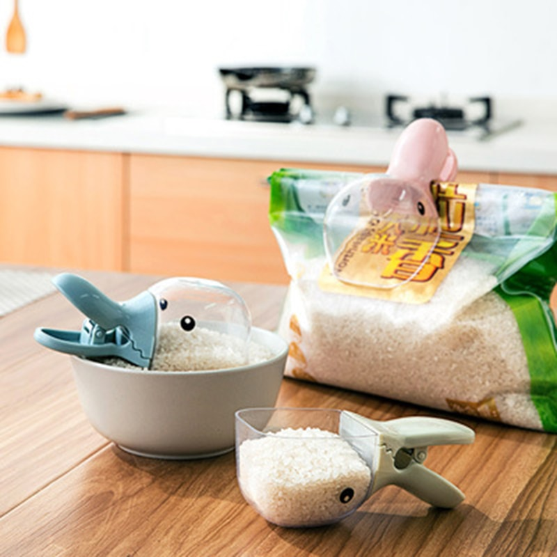 Creative Duck Head Shape Rice Shovel Clip Multi-Function Rice Shovel Sealing Clip Red Bean Green Beans Sealing Clip Spoon Shovel