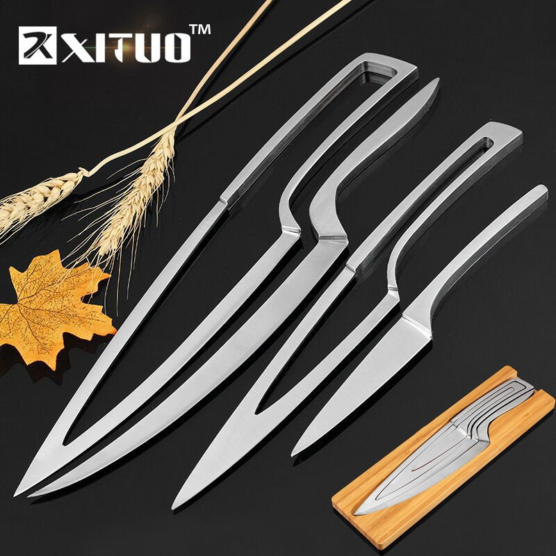 aliexpress - XITUO Knife Set 4 pcs Stainless steel portable chef knife Filleting Paring Santoku Slicing Steak Utility Kitchen Cleaver Knives