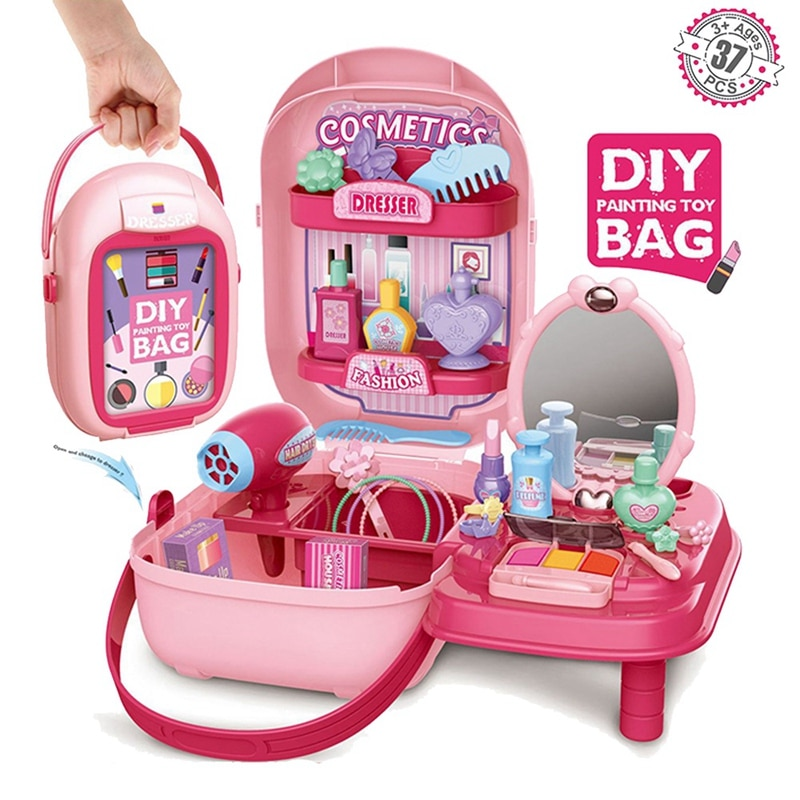 Фото - Kids Pretend Play Make Up Case Simulation Beauty Salon Play Set Accessories Suitcase Storage Box Role Play Cosmetics Toy make and play nativity